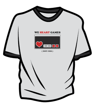 "We Heart Games ""Controller"" T-Shirt"