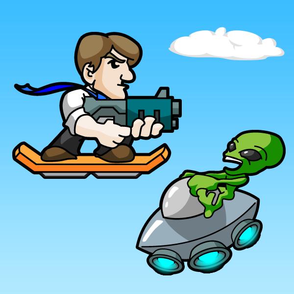 Hoverboard Game Mockup