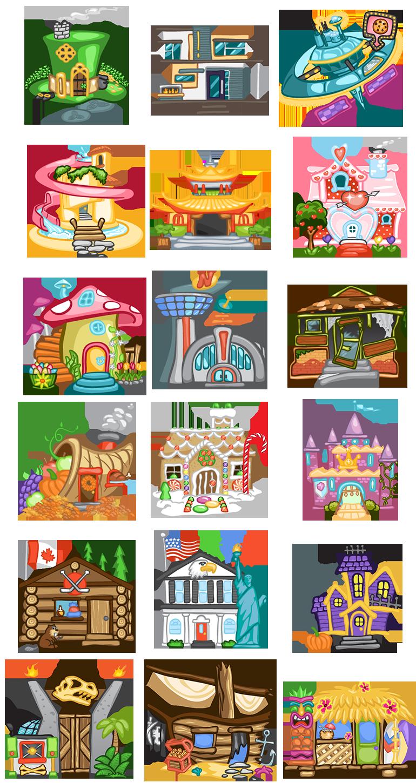 Cookies Inc bakery illustrations