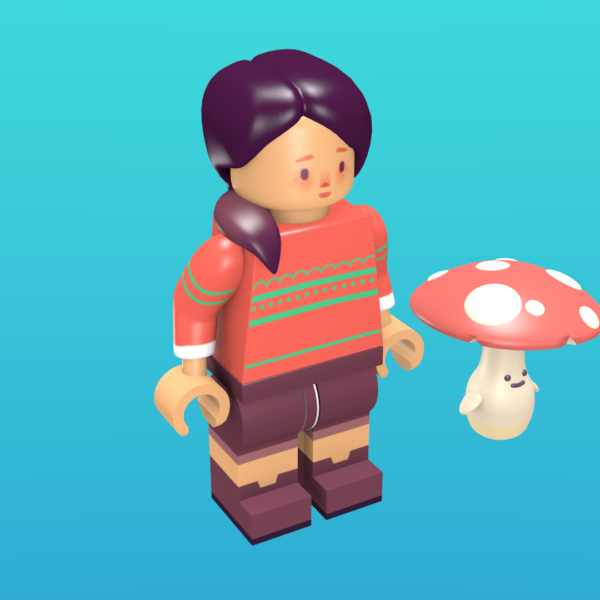 Essie from Ooblets as a minifigure