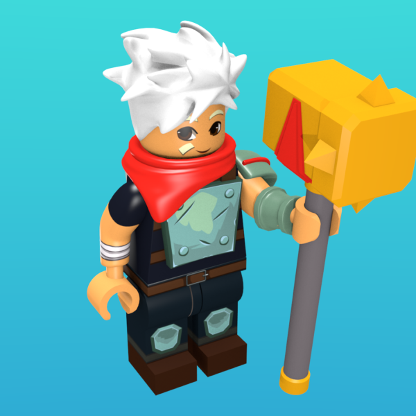 The Kid from Bastion as a minifigure