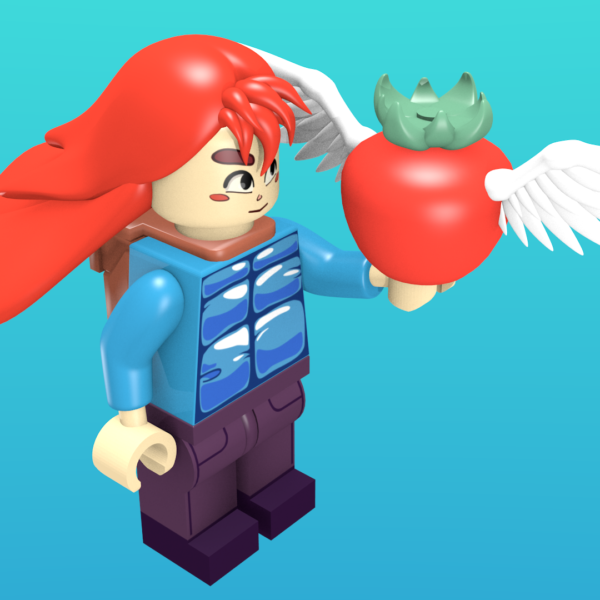 Madeline from Celeste as a minifigure