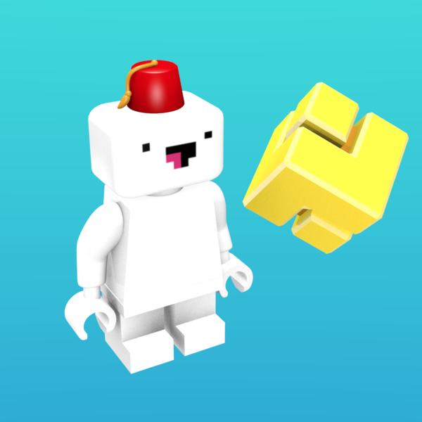 Gomez from FEZ as a minifigure