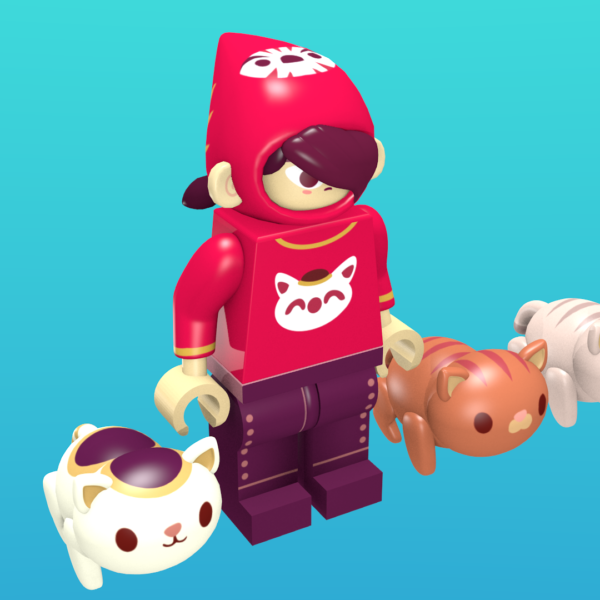 Mineko as a minifigure
