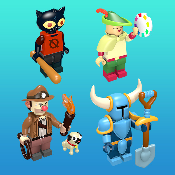 Indie Games as Minifigures