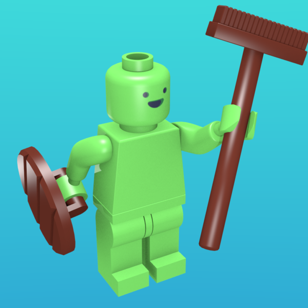 Moonman from MoonQuest as a minifigure