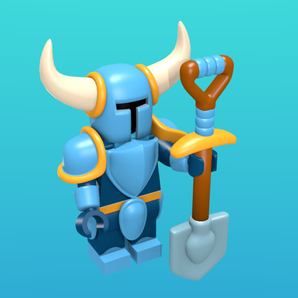 Shovel Knight as a minifigure
