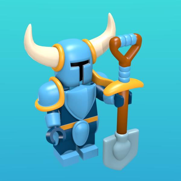 Shovel Knight as a minifigure