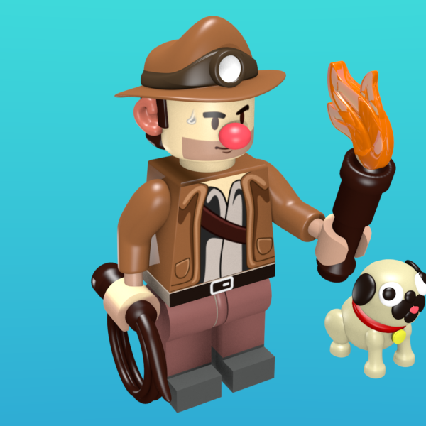Spelunky as a minifigure