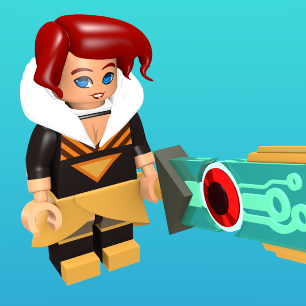 Red from Transistor as a minifigure