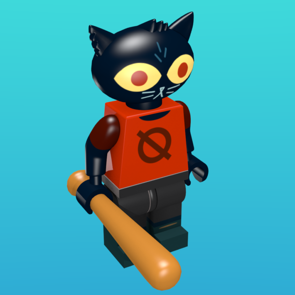 Mae from Night in the Woods as a minifigure