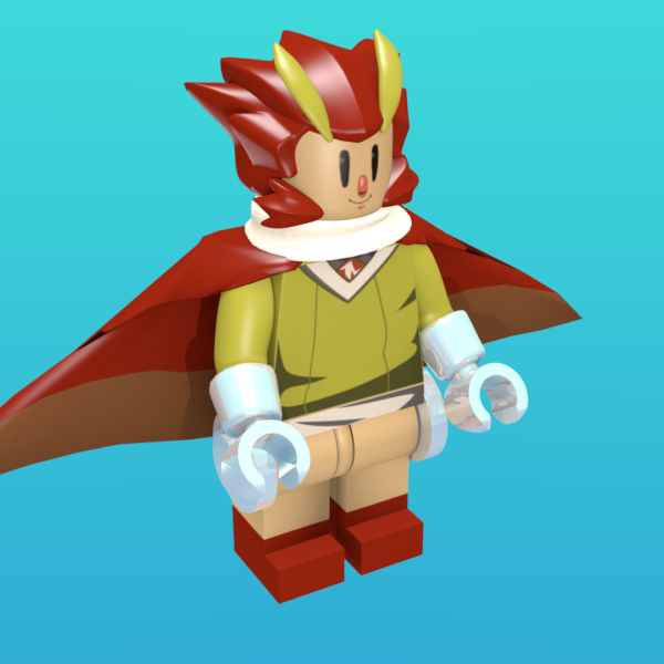Otus from Owlboy as a minifigure