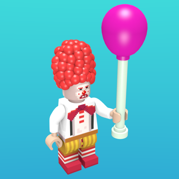 Ransome the *Beeping* Clown from Thimbleweed Park as a minifigure