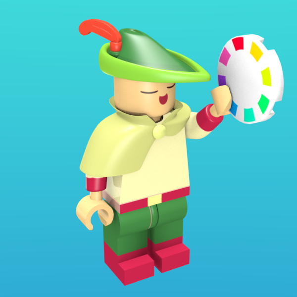 The Bard from Wandersong as a minifigure