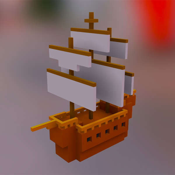 Voxel Sailboat