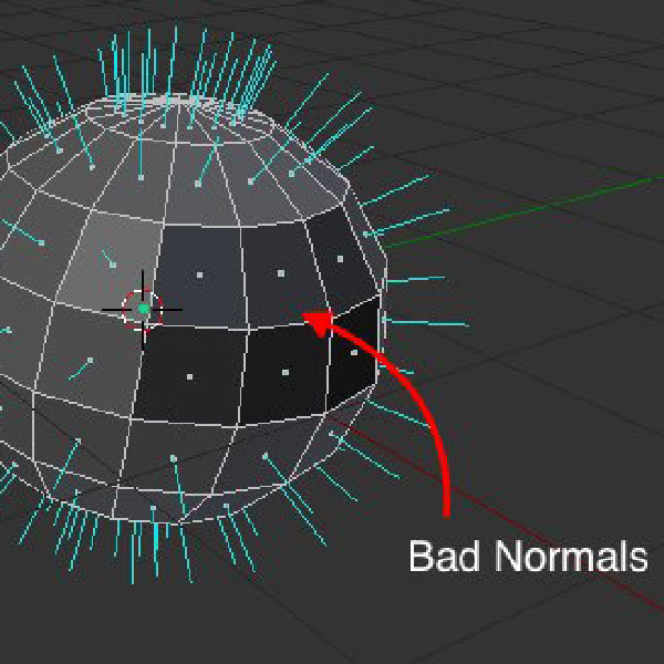 Viewing normals in Blender