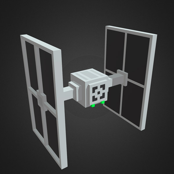 Voxel TIE Fighter