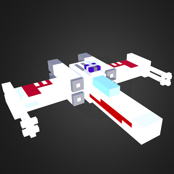 Voxel X-Wing